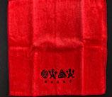 ロコサトシ オリジナル刺繍ハンカチ 小 赤