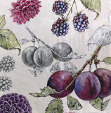 SI14中 F12 L821566 Delicious Plums linen