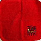 ロコサトシ オリジナル刺繍ハンカチ 大 赤