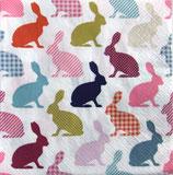 イースターD・中 F85 SDWL006001   Bunny Pattern Retro