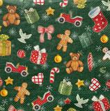 SPX小2 X25 C893920     Festive Christmas Toys green