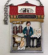 壁飾り * 12-02281c  楽器屋さん