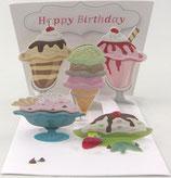 3Dカード PS1073 「Ice Cream」