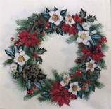 X'mas4中 X22 L834660 Christmassy Wreath cream