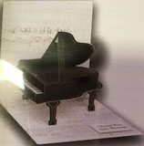 3Dカード PS203  「Baby Grand Piano」