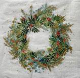X'mas6中 Ⅹ44 3333889 Christmas Hill Wreath