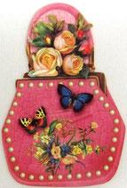 PS Greeting Cards APU-GC57564 Pink Handbag