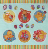 イースターD・中 F102 SDWL006301   Easter Animals in Circles