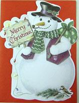 Carol Wilson Christmas *CRGBX105 スノーマン赤封筒付   1