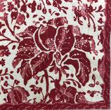 SI5 C603 15012L Plantation Print vintage red