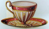 PS Greeting Cards MS CA163 Victirian Tea Cup