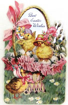 PS Greeting Cards APU-GC50245 Chicks in Basket