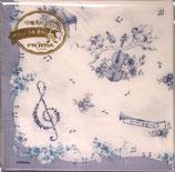 10枚入りペーパーナプキン PNK-013 ブルーミュージック