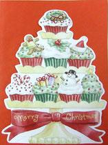 Carol Wilson Christmas *CRGBX206 カップケーキタワー 赤封筒付   11