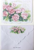 Carol Greeting Card NC2429「薔薇のブーケ」Printed in China
