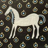 Marimekko中 M302 Ma-913530 Must Tamma 白い馬