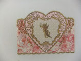 PS Greeting Cards APU-GC50161 Gold Cupid & Pink Heart
