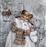 X'mas4中 X06 33311940 Snowman Holding Robin