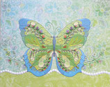Carol Greeting Card NP2462「Floral Butterfly」