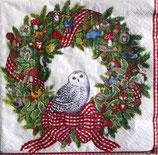 A中 C606 X14700L Snowy Owl Wreath
