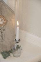 Vase mit Schliff (+ Kerzenhalter)