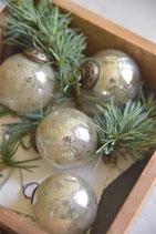 JDL Weihnachtsglaskugel mit Antikfinish