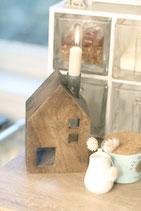 Holzhaus Kerzenständer