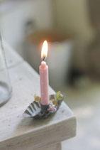 Zink Kerzenhalter oval