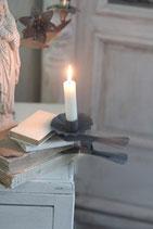 Kerzenklammer Zink grau