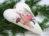 Stoffherz Weihnachtsmann