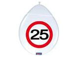 Ballon 12In/30cm Verkeersbord