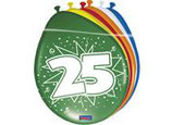 Ballonnen 12In/30cm 25 Jaar st