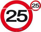 Placemat & Onderzetter Verkeersbord 25