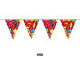Vlaggenlijn Balloons 50 jaar 10mtr