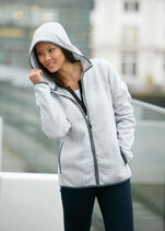 Damen Strick Fleece mit Kapuze | James & Nicholson | JN 588
