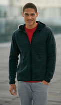 Herren Strick Fleece mit Kapuze | James & Nicholson | JN 589