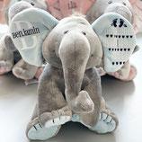 Personalisierte Baby Elefant BLAU