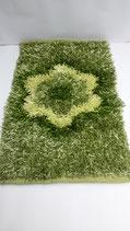 Tappeto Shaggy rettangolare con Fiore centrale 100x150 cm. A721