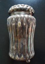 Vintage Merchandising article:  Ovomaltine box of silver-coated metal