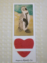 STANDING PENGUIN BOOKMARK