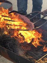 カツオたたきの藁焼きバーベキューセット
