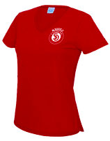 Sandokai Atmungsaktives T-Shirt Damen Rot