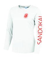 Sandokai Fitness/Tanzen Damen Longsleeve Weiß