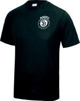 Sandokai Atmungsaktives T-Shirt Schwarz