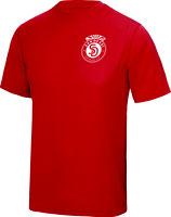 Sandokai Atmungsaktives T-Shirt Rot