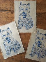 "Linocut Print ""West Highland White Terrier"""