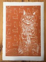 "Linocut Print ""Marmalade"""