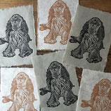 "Linocut Print ""Cocker Spaniel"""
