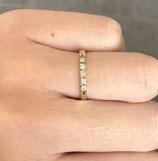14k gouden rijring met diamant