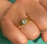 18k gouden heren ring met diamant